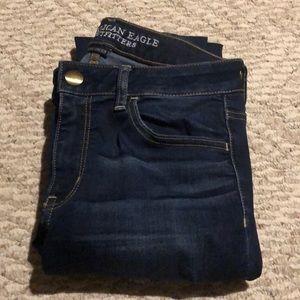American eagle dark wash mid-rise jeans